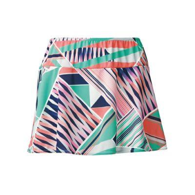 軽やかに揺れるフレアが綺麗なプリントオーバースカート