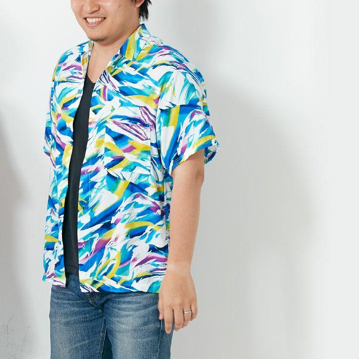 レーヨンワッシャーのアロハシャツ